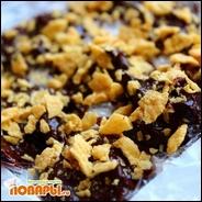 Конфеты из черного шоколада с черносливом и орехами (на миндальном молоке)  Конфеты из черного шоколада с черносливом и орехами (на миндальном молоке)