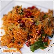 Салат морковь с кинзой