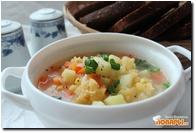 Суп гороховый (постный) с зеленью