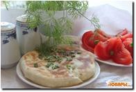 Постные лепешки с картофелем и зеленью (молдавские лепешки, плацинды)