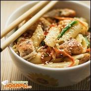 Курица в китайском стиле с макаронами