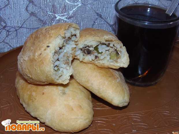 Пирожки с рыбой и рисом в духовке рецепт пошаговый рецепт