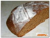 Ржаной хлеб на домашней закваске без дрожжей