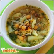 Нутовый суп-лапша (вегетарианская/ веганская лапша с нутом)
