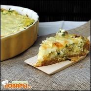 Пирог с капустой и домашним творогом