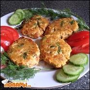 Рыбные котлеты по-тайски с красным перцем и фасолью