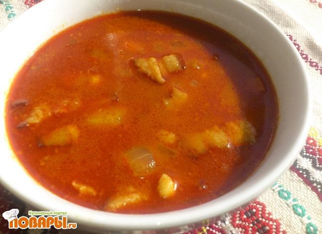 Бограч. Венгерский суп.