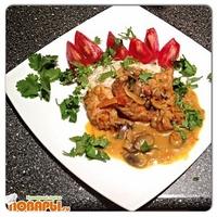 Жареная курица с грибами по-тайски