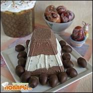 Полосатая пасха с шоколадом