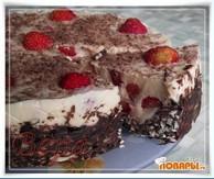 Торт клубничный без выпечки