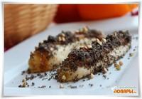 Банановый десерт с черным кунжутом и воздушной зеленой гречкой (сыроедческий рецепт)