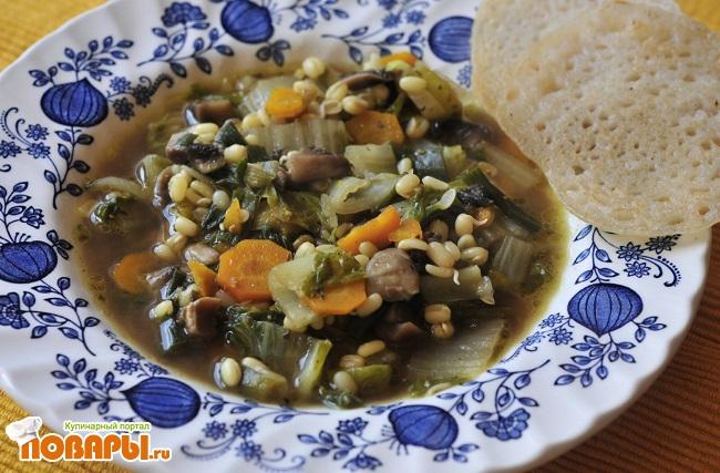 Овощной суп с пророщенным машем