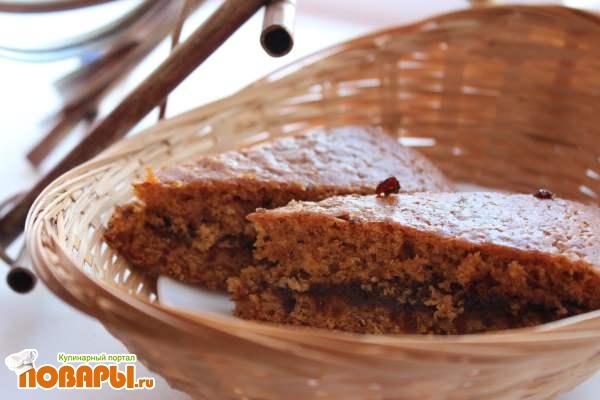Абрикосовый пирог с черносливом
