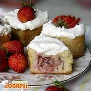 Клубничные пироженки