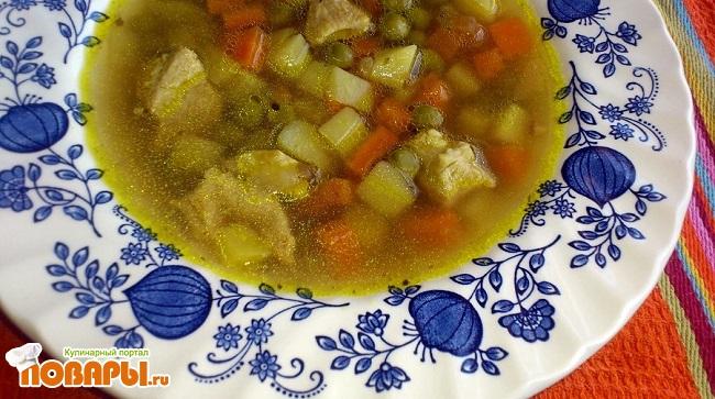 Суп с консервированным горошком