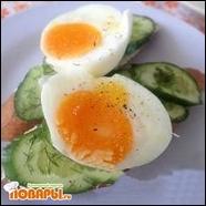 Бутерброды с огурцами и яйцом