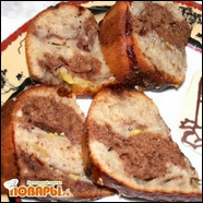 Мраморный банановый кекс