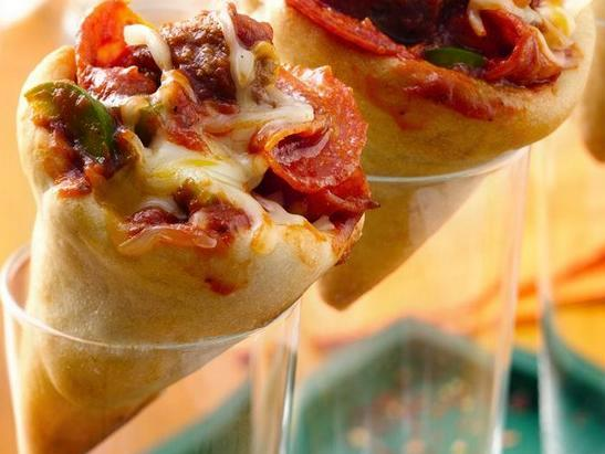 Как сделать пиццу в стакане 125