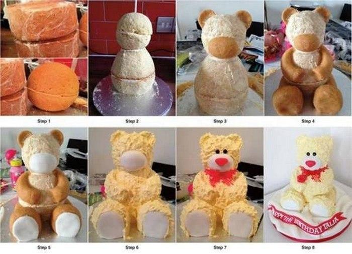 Как сделать торт в виде сидячего мишки