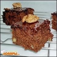 Шоколадно-ананасовый пирог